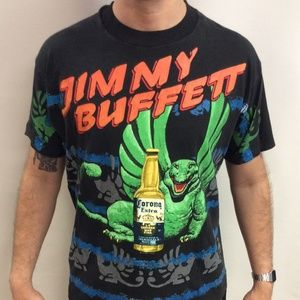 Vintage 90's 1992 Jimmy Buffett Corona Tour Shirt
